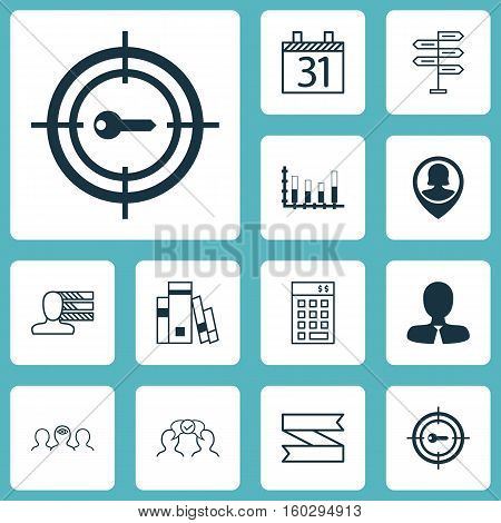 Set Of 12 Universal Editable Icons. Can Be Used For Web, Mobile And App Design. Includes Elements Such As Library, Pin Employee, Segmented Bar Graph And More.