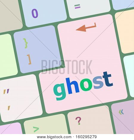 Ghost Word On Keyboard Key, Notebook Computer Button