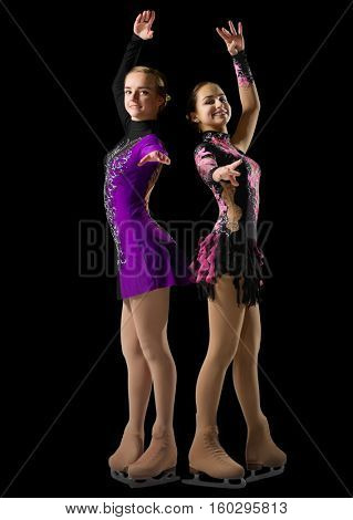 Young girls figure skaters (isolated version)