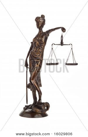 Justice with scales for Law and Justice