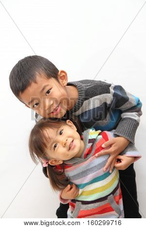 Japanese brother and sister (7 years old boy and 2 years old girl)