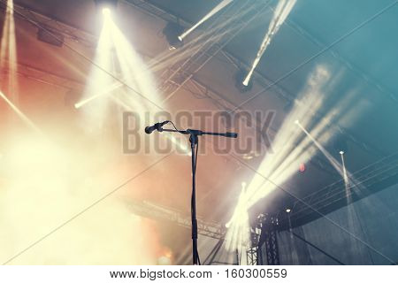 Guitar in stage lights