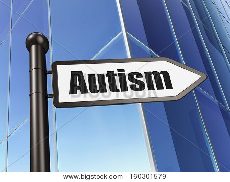 Healthcare concept: sign Autism on Building background, 3D rendering