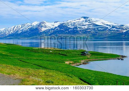 Landscape And Countryside Along The Eyjafjordur