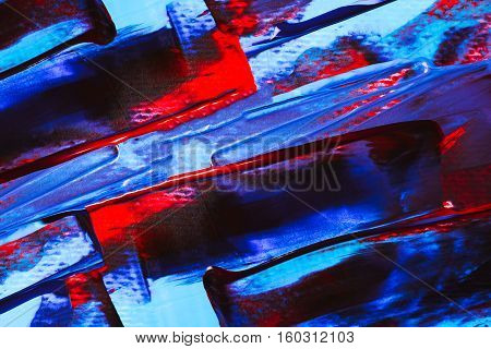 Abstract acrylic bright background made with paint strokes