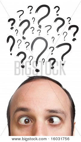 Caucasian Male Adult Has Way Too Many Questions In His Head