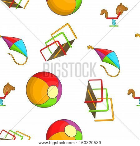 Attractions for children pattern. Cartoon illustration of attractions for children vector pattern for web