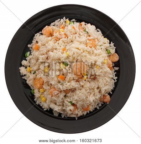 Chinese Food. Rice With Shrimps And Vegetables