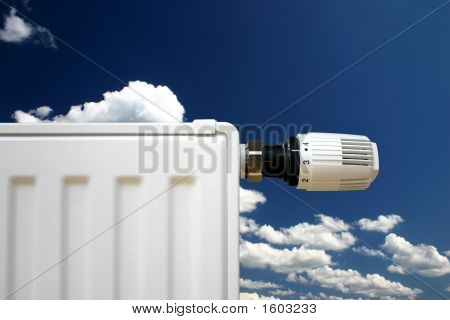 Radiator On A Blue Sky
