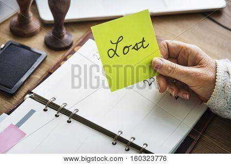 Lost Financial Crisis Mortgage Bankruptcy Concept