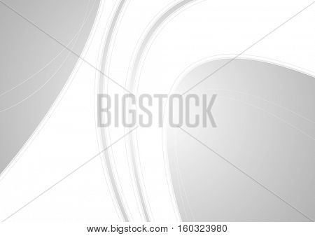 Light grey corporate waves background