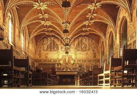 Plenary Hall of the City of Bruges. Belgium.