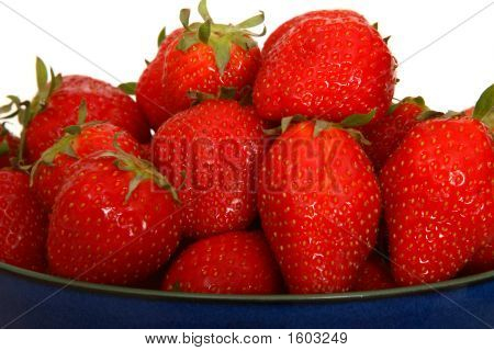 Strawberries In Bowl.