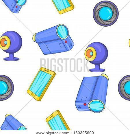 Electronic appliance pattern. Cartoon illustration of electronic appliance vector pattern for web