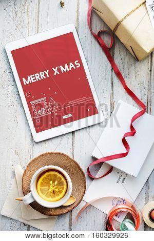 Merry Christmas Santa Clause Festive Holiday Concept