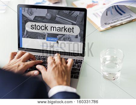 Stock Market Finance Business Concept