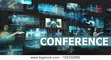 Conference Presentation Background with Technology Abstract Art 3d Illustration Render