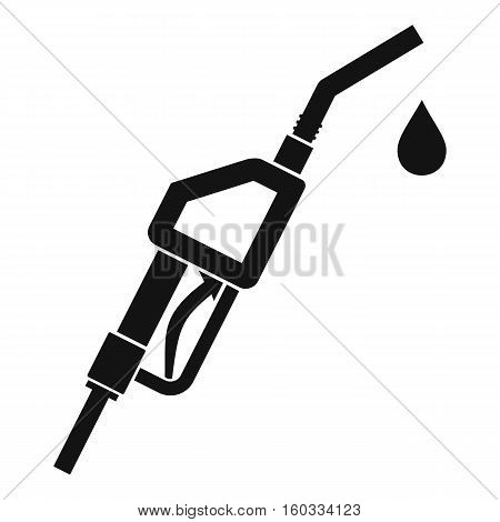Gasoline pump nozzle icon. Simple illustration of gasoline pump nozzle vector icon for web