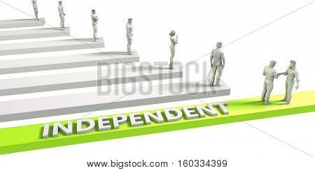Independent Mindset for a Successful Business Concept 3d Render