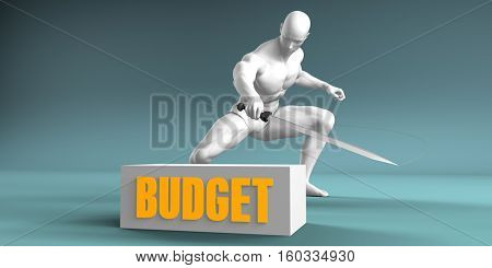 Cutting Budget and Cut or Reduce Concept 3d Render