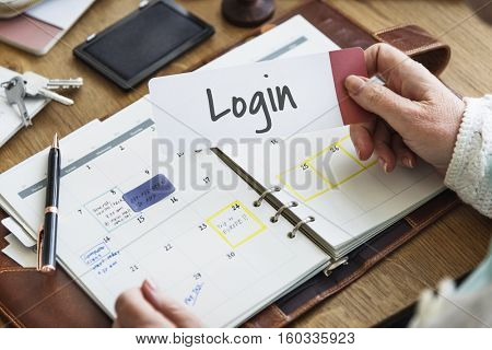 Login Accessibility Password Privacy Network Security System Concept