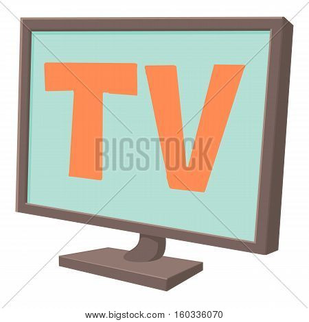 TV screen icon. Cartoon illustration of tv screen vector icon for web