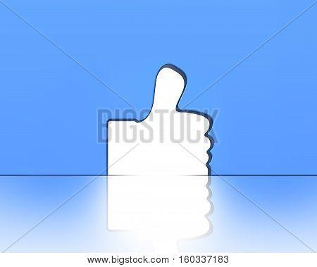 Thumb Up Shape Door, 3D Rendering