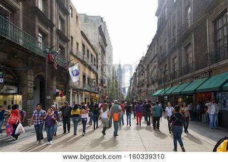 Avenue Madero In Mexico City