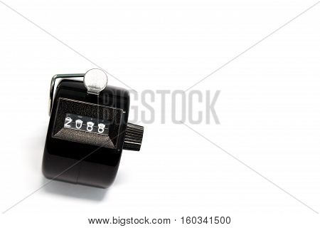 Number year of Counter on white background