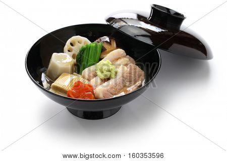 Jibuni, Kanazawa style duck meat stew, japanese cuisine