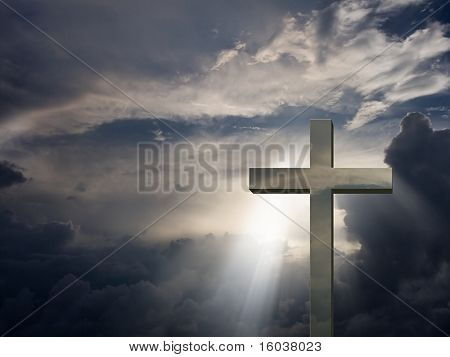Mettalic Cross and sky