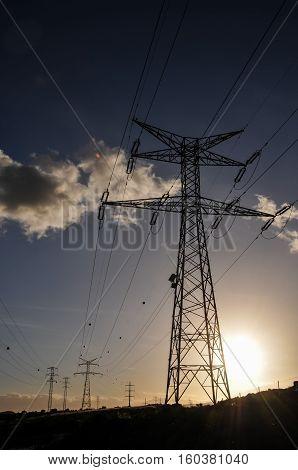 Electricity Power Pylon