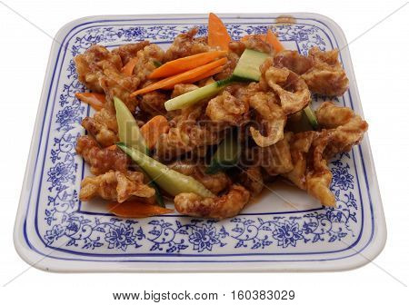 Chinese Food. Sweet And Sour Pork With Vegetables