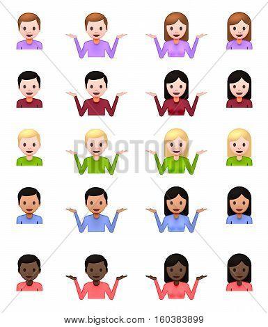 Shrug Emoji. Shrug Emoticon. Shrug Icon