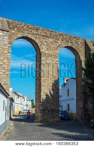Archaeological Remains Of A Roman Aqueduct. Evora, Alentejo. Portugal.