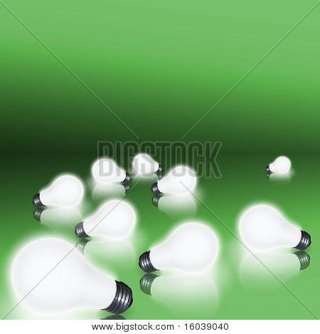2 bulbs on green