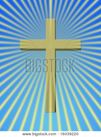 Cross with beams