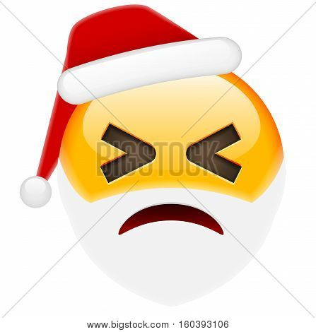 Winky Smile Emoticon For Christmas And New Year