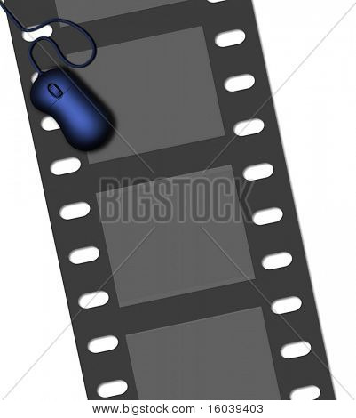 Computer Mouse and  Movie Film