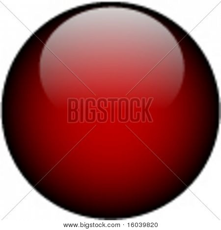 Vector Deep Red Glass Button