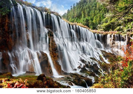 Amazing View Of The Nuo Ri Lang Waterfall (nuorilang)