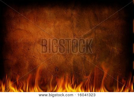 Fire and grunge wall