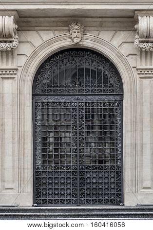 Wrought Iron Entrance Door of a historic building