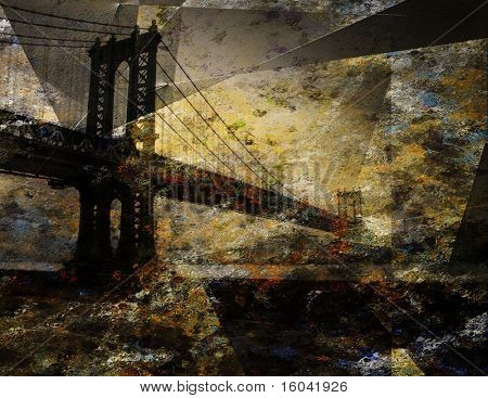 Abstracted Grunge Bridge