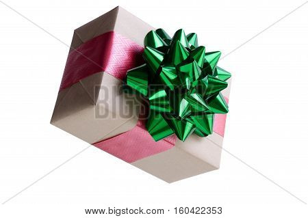 Decorative Brown Paper Wrapped Christmas Gift