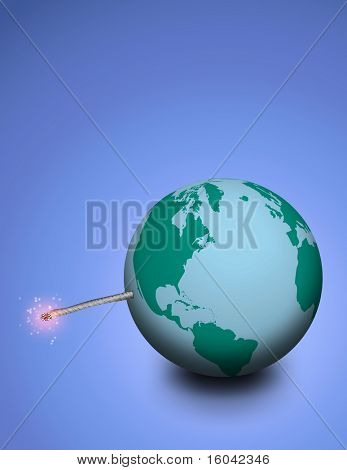 Explosive earth