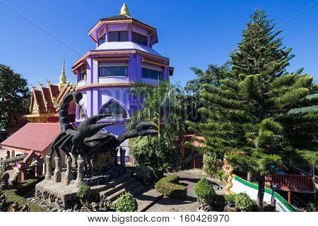 Wat Phra That Doi Wao (Black Scorpion Temple) in Chiang rai Thailand
