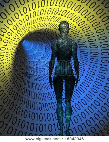 Electric circuit human in binary tunnel