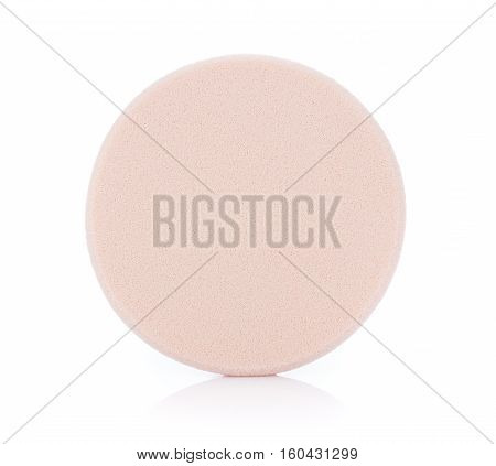 Closeup Cosmetic sponges isolated on white background