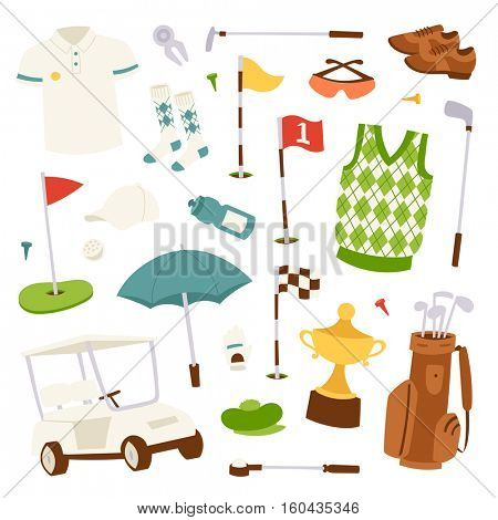 Vector set of golf icons